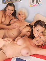 Young and old orgy